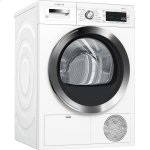 "Bosch800 Series 24"" Compact Condensation Dryer, with Home Connect, WTG865H2UC, White/Chrome"