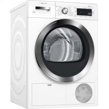 """800 Series 24"""" Compact Condensation Dryer, with Home Connect, WTG865H2UC, White/Chrome"""