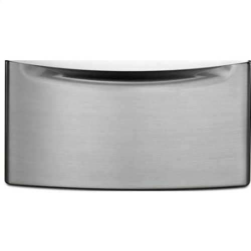 "15.5"" Laundry Pedestal with Chrome Handle and Storage Drawer - DS"
