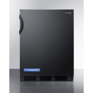 SummitFreestanding ADA Compliant Refrigerator-freezer for General Purpose Use, With Dual Evaporator Cooling, Cycle Defrost, and Black Exterior