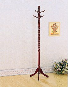 Traditional Style Cherry Coat Rack in a Merlot Finish    3058   (57927)