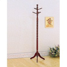 Traditional Merlot Twisted Post Coat Rack
