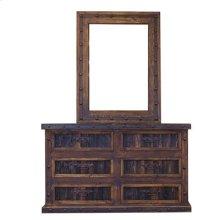 """Dresser : 61"""" x 18"""" x 36"""" Finca Six Dresser with Reclaimed Wood Panels"""