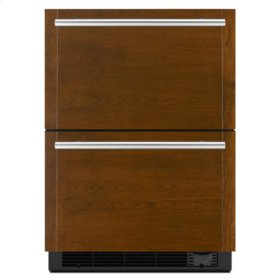 "Panel-Ready 24"" Refrigerator/Freezer Drawers"
