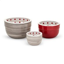 TY Berry Patch Hand-painted Mixing Bowls - Set of 3