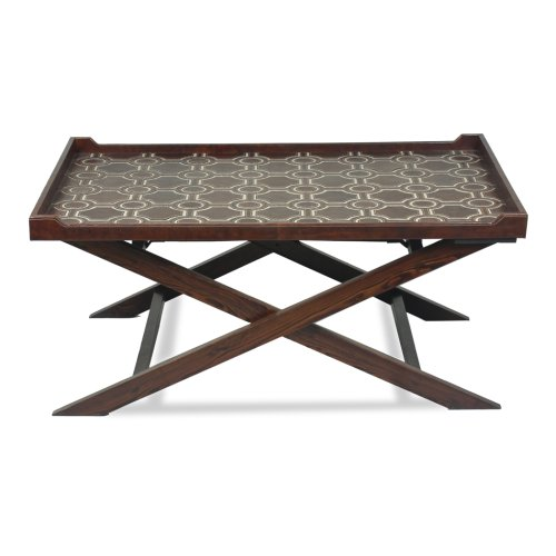 Leather Tray Coffee Table