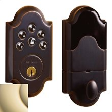 Lifetime Polished Brass Boulder Electronic Deadbolt