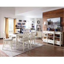 Nashville Counter Height Dining Room Set: Table and 6 Chairs