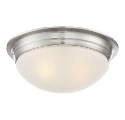 "13"" Flush Mount White Glass"