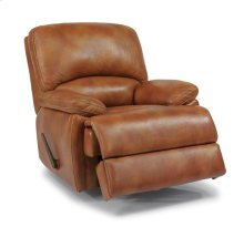 Dylan Leather Rocking Recliner with Chaise Footrest