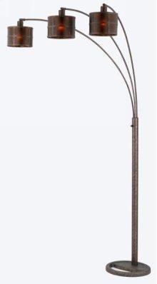 60W x 3 metal mica arc floor lamp