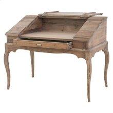 Swedish Desk W/Top Cabinet-Bleached Pine