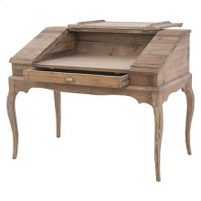 Swedish Desk W/Top Cabinet-Bleached Pine