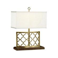 Gilded Gothic Trellis Table Lamp