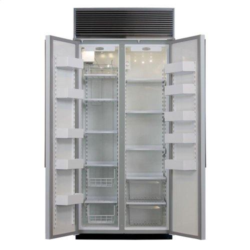 """36"""" Refrigerator Freezer - 36"""" Marvel Side-by-Side Combination Refrigerator Freezer - White Interior with Panel Door"""