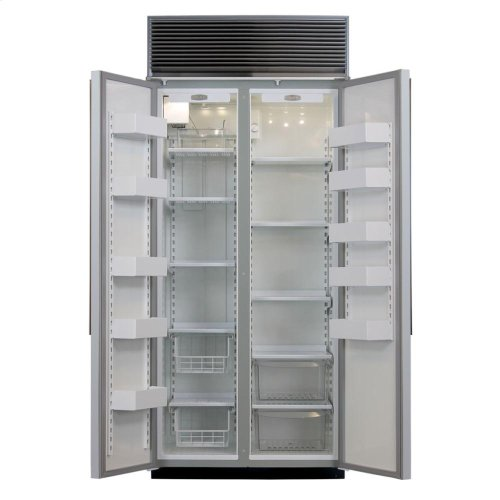"36"" Refrigerator Freezer - 36"" Marvel Side-by-Side Combination Refrigerator Freezer - White Interior with Stainless Steel Doors"