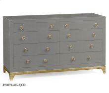 Slate & Gold Double Low Chest