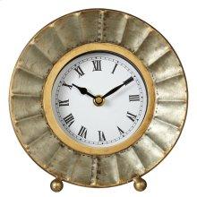 Galvanized Fluted Desk Clock.