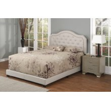 Brown Fabric Upholstered 3pc. Full Bed