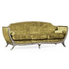 Empire Style Sofa (Silver Leaf/Velvet Lime)
