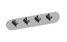 M.E. M-Series Valve Horizontal Trim with Four Handles