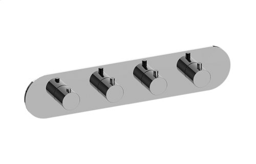 M.E. M-Series Valve Horizontal Trim with Four Handles