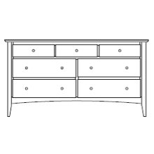 "Sedona 7 Drawer 66"" Dresser"