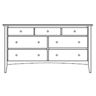 "Sedona 7 Drawer 66"" Dresser"