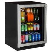 24-In Built-In Beverage Center with Door Swing - Left