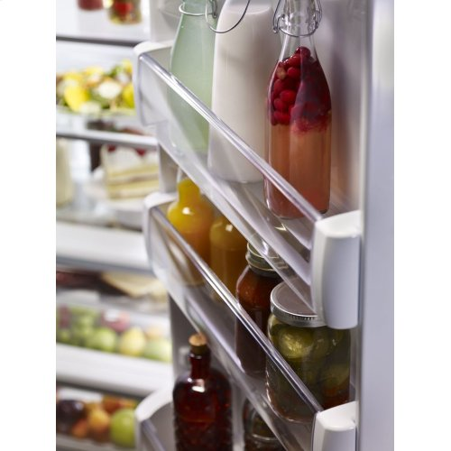 29.5 cu. ft 48-Inch Width Built-In Side by Side Refrigerator with PrintShield Finish - PrintShield Stainless