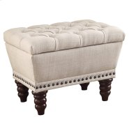 Hampton Single Storage Bench in Beige Product Image