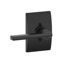 Latitude Lever with Century trim Non-turning Lock - Matte Black