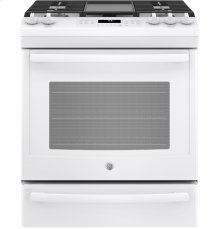 Slide-In Front Control, Premium Blanc Appearance, 5.6 cu. Ft. Self-Cleaning Convection Gas Range