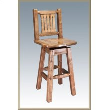 Homestead Swivel Barstool - Stained and Lacquered