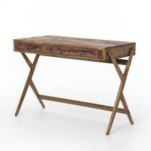 Danny Pencil Desk-bleached Pine/aged Oak