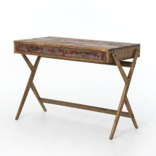 Danny Pencil Desk-bleached Pine/aged Oak