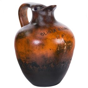 "Orange Black "" Bath Oil Jug"" Large"