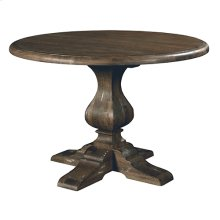 Artisans Shoppe 44IN Round Dining Table W/ Wood Base - Black Forest