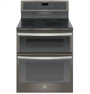 """GE Profile™ Series 30"""" Free-Standing Electric Double Oven Convection Range Product Image"""