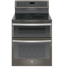 "SCRATCH & DENT- GE Profile™ Series 30"" Free-Standing Electric Double Oven Convection Range"