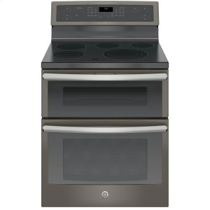"GE ProfileSeries 30"" Free-Standing Electric Double Oven Convection Range"