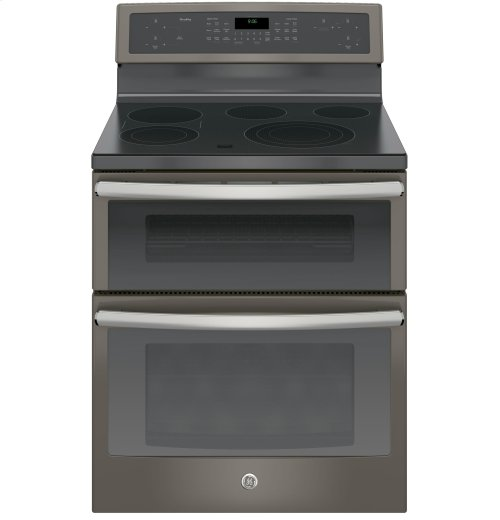 "GE Profile™ Series 30"" Free-Standing Electric Double Oven Convection Range"