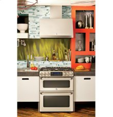 """GE Cafe Series 30"""" Free-Standing Gas Double Oven with Convection Range"""