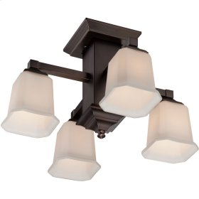 Quoizel Semi-Flush Mount in Harbor Bronze
