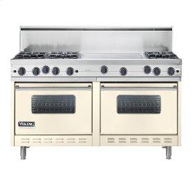 """Biscuit 60"""" Open Burner Commercial Depth Range - VGRC (60"""" wide, six burners 24"""" wide griddle/simmer plate)"""