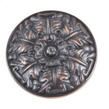 Hammered Medallion Knob 1 1/2 Inch - Venetian Bronze