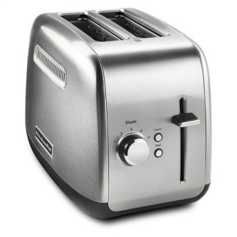 2-Slice Toaster with manual lift lever - Brushed Stainless Steel