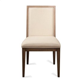 Mirabelle Cane Upholstered Side Chair Ecru finish