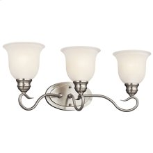 Tanglewood 3 Light Vanity Light with LED Bulb Brushed Nickel