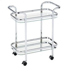 Zedd 2-Tier Bar Cart in Chrome
